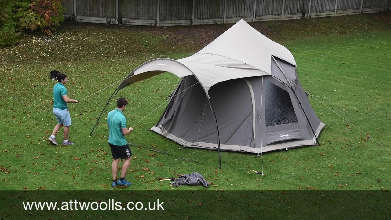 Vango Rosewood TC Tent Pitching u0026 Packing (Real Time) Video & Vango Rosewood TC Tent Pitching u0026 Packing (Real Time) Video - YouTube