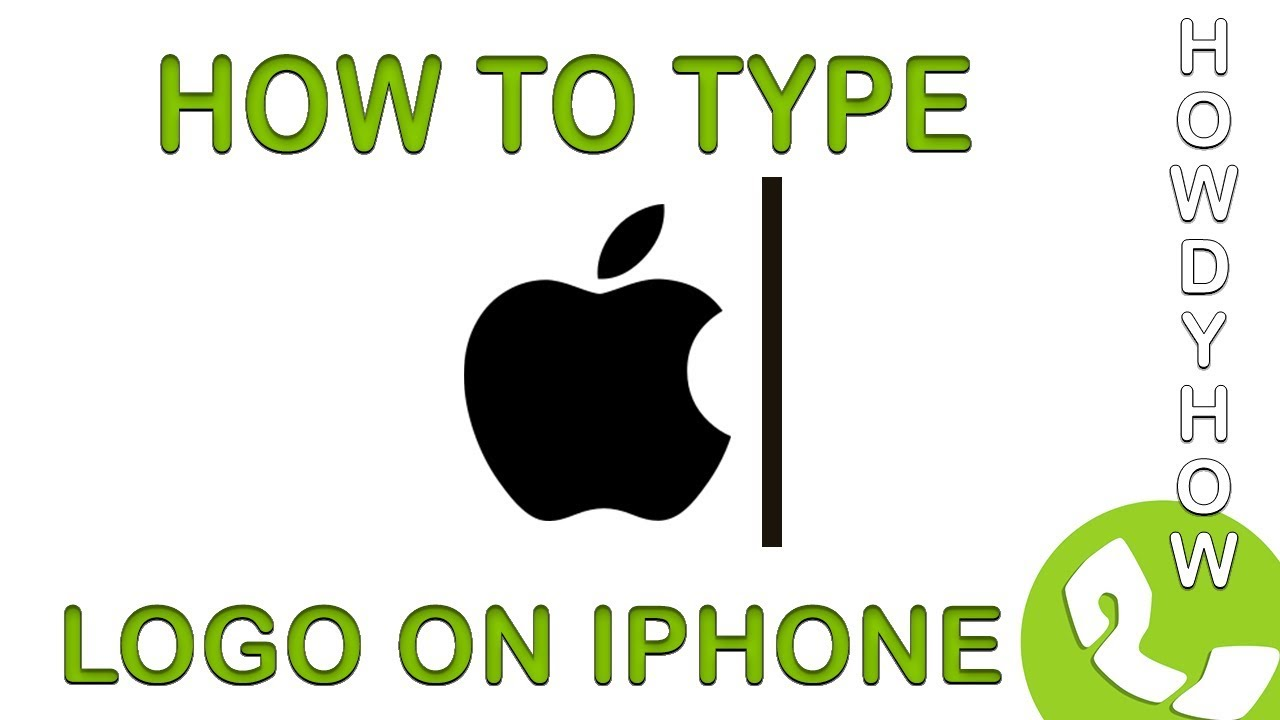 Type The Apple Logo On Iphone How To Video Youtube