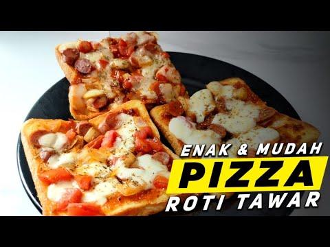 Resep Pizza Roti Tawar Bread Pizza Recipe Pizza De Pão Forma Youtube