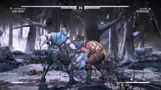 Mortal Kombat X verses CPU sub zero vs scorpion