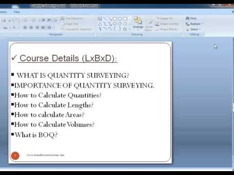 Quantity Surveying course, know more,learn and earn