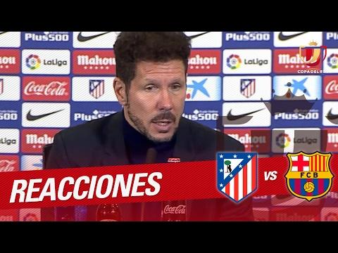 Rueda de prensa de Simeone tras el Atlético de Madrid vs FC Barcelona (1-2)