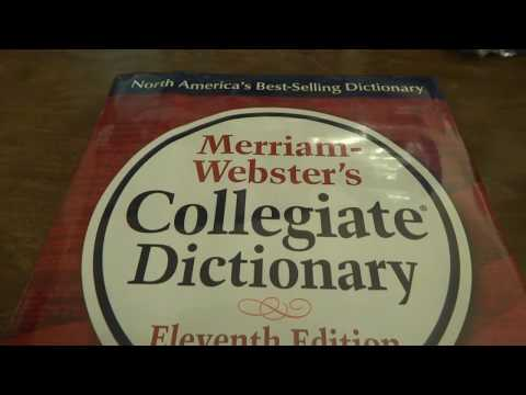 Opening The Merriam-Webster Collegiate Dictionary (11th Edition)