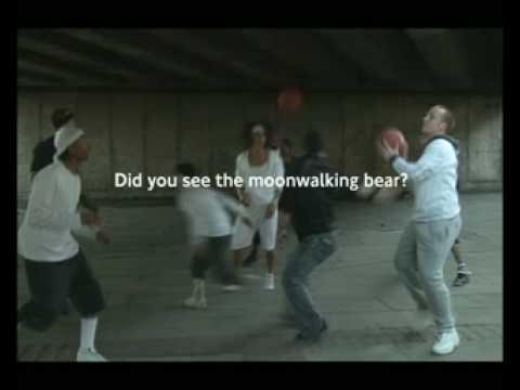 DANCING BEAR, MOONWALKING BEAR, CYCLIST AWARE