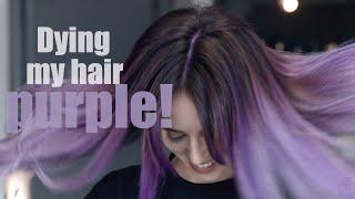 Dying My Hair Purple!