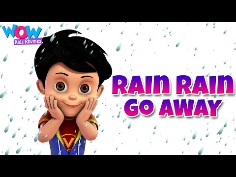 Rain Rain Go Away Nursery Rhyme With Lyrics - Cartoon Animation Songs for Kids - Vir:The Robot Boy