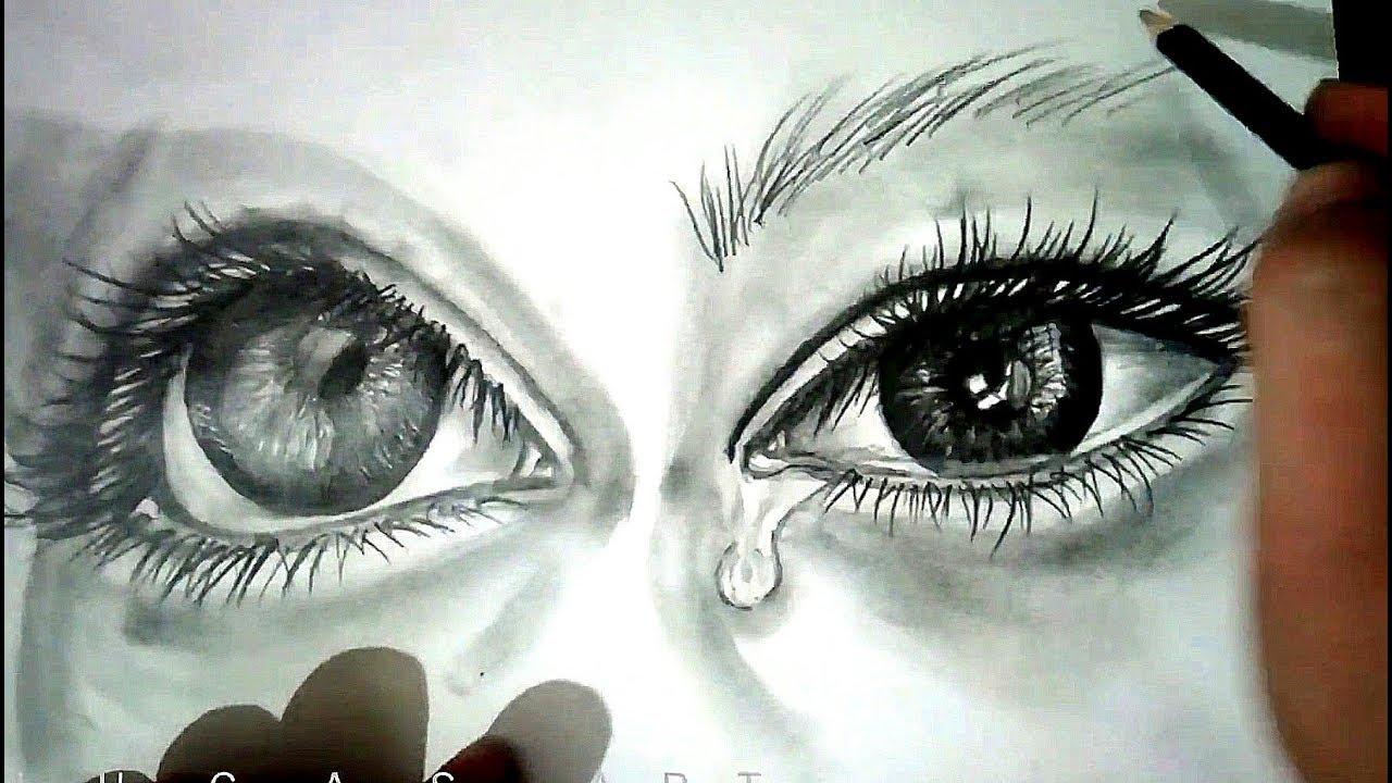 Draw Semi Realistic Eye With Tear