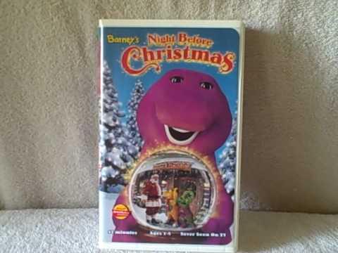 Barney s night before christmas vhs tape youtube