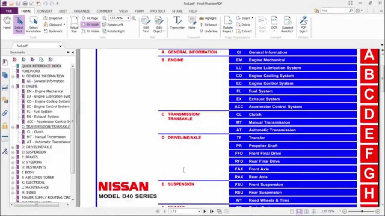 Nissan Navara D40 Fuse Box Diagram : Buku manual service nissan navara model d series youtube