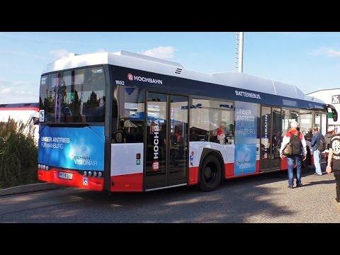 Elektrobus der Hochbahn Solaris Hamburg Urbino 12 electric Visionair auf der InnoTrans 2016