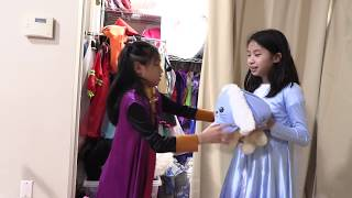 Pretend Play Police with Disney Frozen 2 Princess Costumes