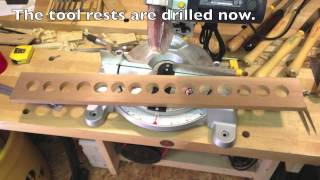 Woodworking: A Lathe Tool Rack For a Micro Shop