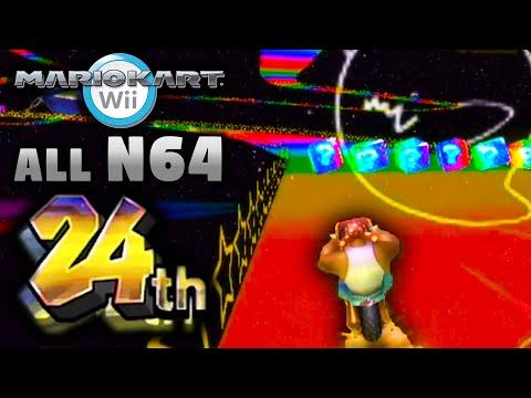 Mario Kart Wii 24 Players: ALL N64 Tracks