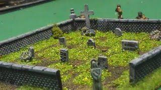 How to make a Wargaming 20mm cemetery terrain piece