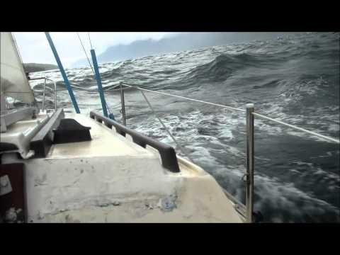 Rough Sailing on Catalina 22 in Patagonian Channels, South Pacific