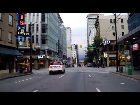 Downtown Vancouver Canada. Driving in City Centre. Morning Drive 2018. Over 1 Hour!