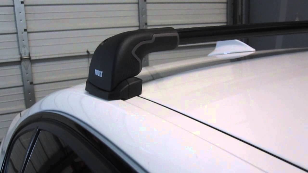 Thule Aeroblade Edge >> 2006 to 2013 BMW 3 Series 4 Door with Thule AeroBlade EDGE Roof Rack by Rack Outfitters - YouTube
