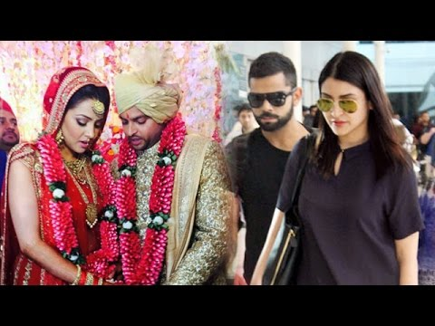 Virat Kohli - Anushka Sharma Attend Suresh Raina's Wedding ...