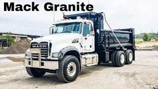 Mack Granite Hauling Topsoil *JakeBrake!!!!*