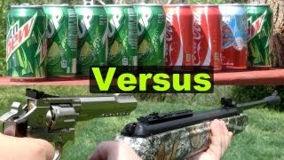 Air Guns Shooting Cans (Pellet, BB, and Airsoft) in Slow Motion