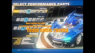 Team sonic racing online fun and races challenges plus car customisations