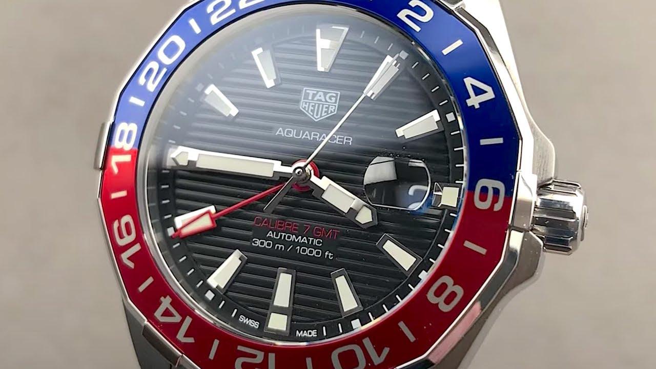 TAG Heuer Aquaracer Calibre 7 GMT WAY201F.BA0927 TAG Heuer Watch Review