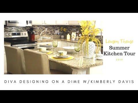 Lemon Theme | Summer Kitchen Tour 2019