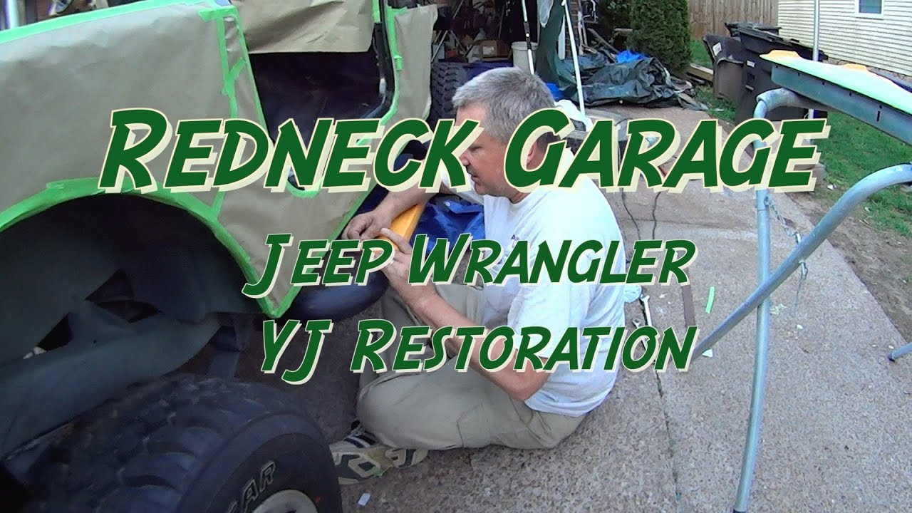 jeep wrangler bed liner prep and painting done yj youtube. Black Bedroom Furniture Sets. Home Design Ideas