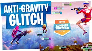 Anti Gravity Cube Glitch in the Middle of Fortnite Summer Skirmish Week 8 - Players freaking out...