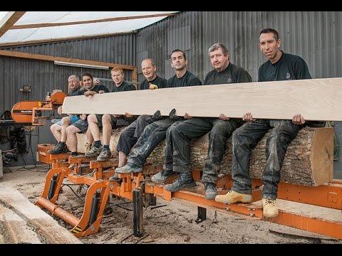 Making high-end wood floors in Britain -- Wood-Mizer Sawmill Owner Series LT40