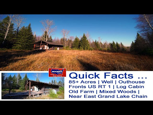 Land In Maine For Sale Videos | 85+ Acres US RT 1 Amity ME MOOERS REALTY #8991
