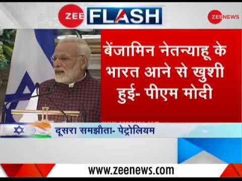 PM Modi, Benjamin Netanyahu's joint press conference from Hyderabad House, Delhi