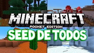 SEED de TODOS os BIOMAS do MINECRAFT PE 1.0