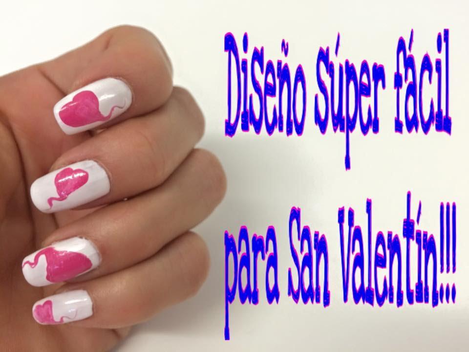 Diseño de uñas para San Valentín con palillo de dientes - YouTube