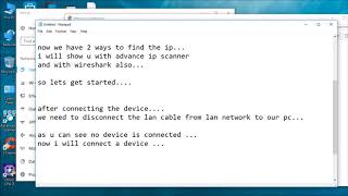 How to find Unknown IP address of a device using wireshark & advance ip scanner
