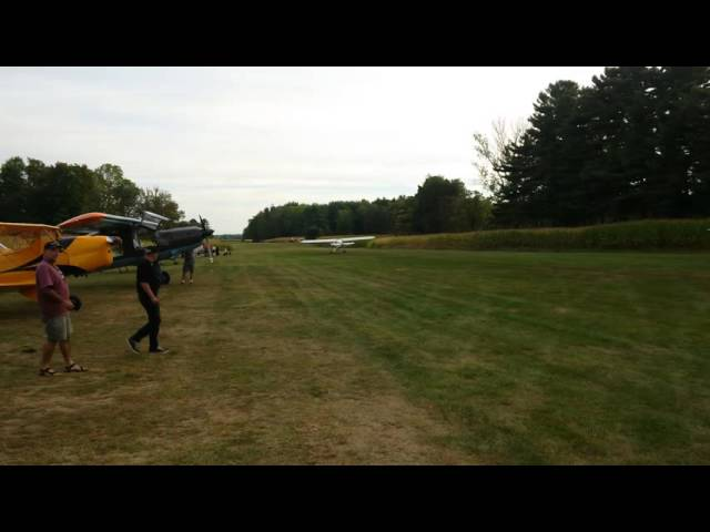 Piper Cub Departure from Bushhawk Creek Airport