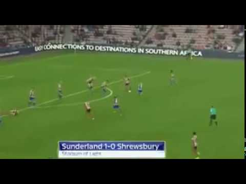 Adnan Januzaj first goal with sunderland vs shrewsbury town in EFL Cup
