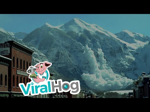Helicopter Triggered Avalanche in Colorado Mountains || ViralHog