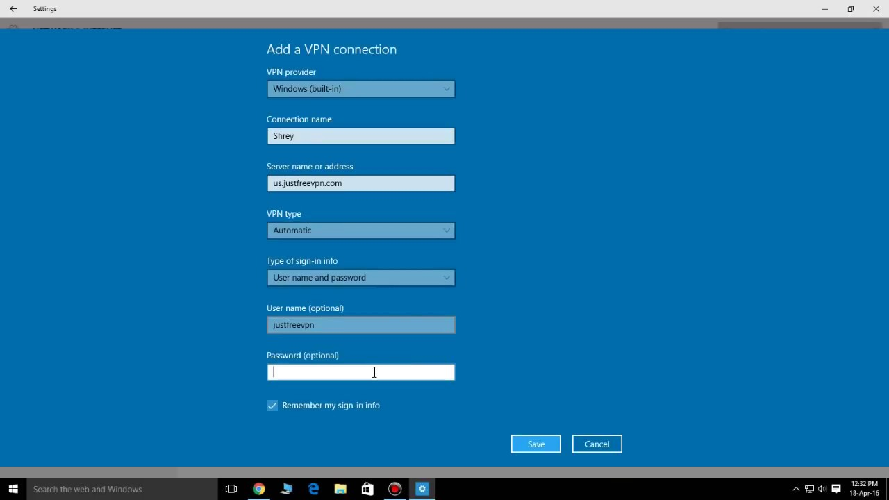 How To Get Free VPN In Windows 10 - YouTube