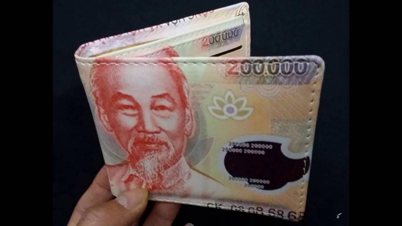 Bán buôn Ví Hình Tiền 100 USD, 500.000 VNĐ, 200K Giá Rẻ - 0868.360.063