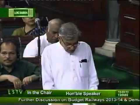Shri Pawan Kumar Bansal on Railway Budget Demands for Grants : 13 March, 2013