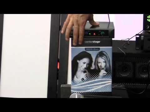 Karaoke DJ Disc Jockey Dual Wireless Microphone System