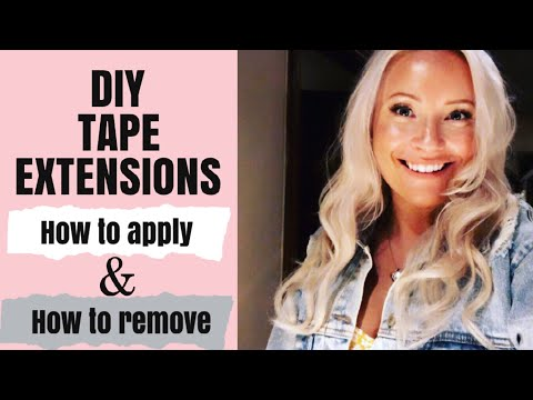HOW I APPLY AND REMOVE MY HAIR EXTENSIONS MYSELF!! | DIY TAPE HAIR EXTENSIONS | ZALA HAIR EXTENSIONS
