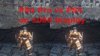 PS4 Pro vs PS4 Resolution Simulation 4K to 1080P vs Native 1080