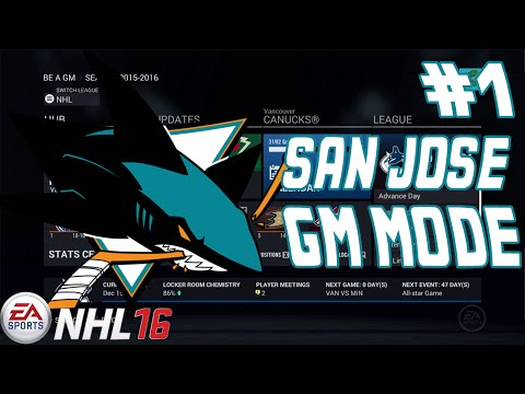 OHH BABY!  - NHL 16 - GM Mode Commentary - San Jose Sharks ep. 1