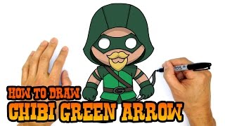How to Draw Green Arrow (Chibi)- Kids Art Lesson