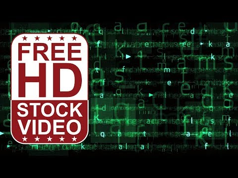 FREE HD video backgrounds - Abstract animated green hi tech digital background with matrix effect