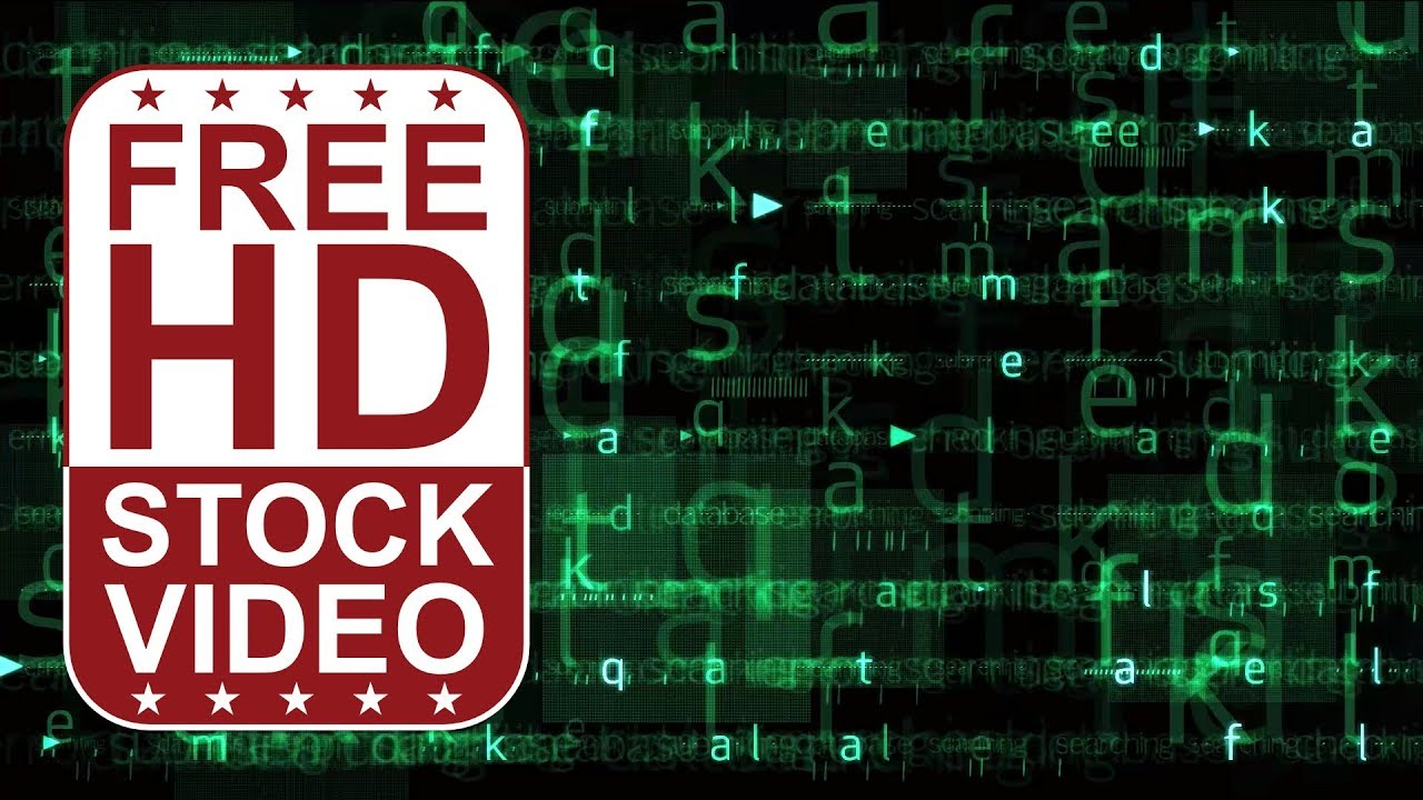 FREE HD video backgrounds Abstract animated green hi tech