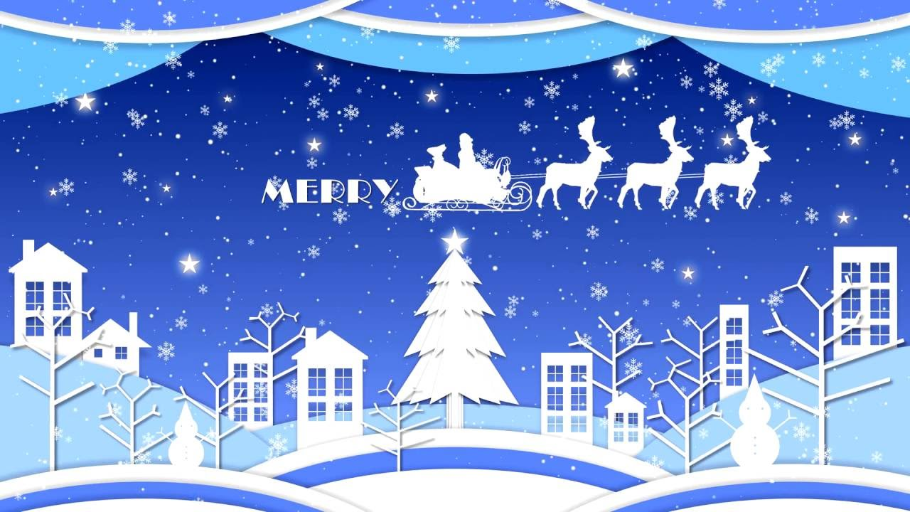 4k merry christmas motion graphic animation video background - Merry Christmas Animated Graphics