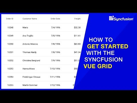 How to Get Started with the Syncfusion Vue Grid thumbnail